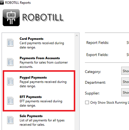 Custom Payment Reports