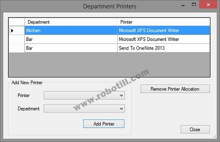 POS Department Printers