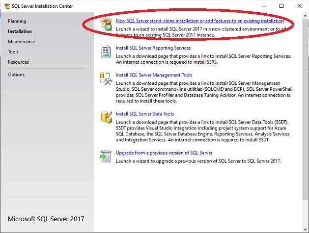 SQL Server Direct Install