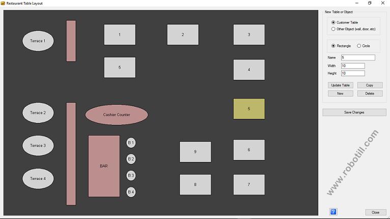 POS Restaurant Tables - Restaurant table software